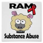 Abuso de sustancia de RAM Posters