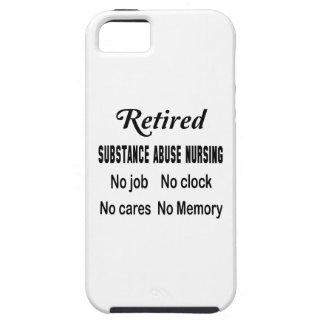 Abuso de sustancia jubilado no cuidando ningún funda para iPhone 5 tough