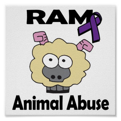 Abuso del animal de RAM Posters