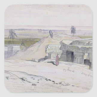 Abydus, 1pm, 12th January 1867 (ink and watercolou Square Sticker