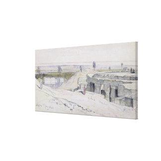 Abydus, 1pm, el 12 de enero de 1867 (tinta y water lona envuelta para galerías