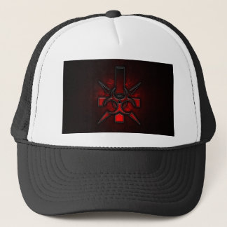 ABYSS DARK OCCULT DESIGN TRUCKER HAT