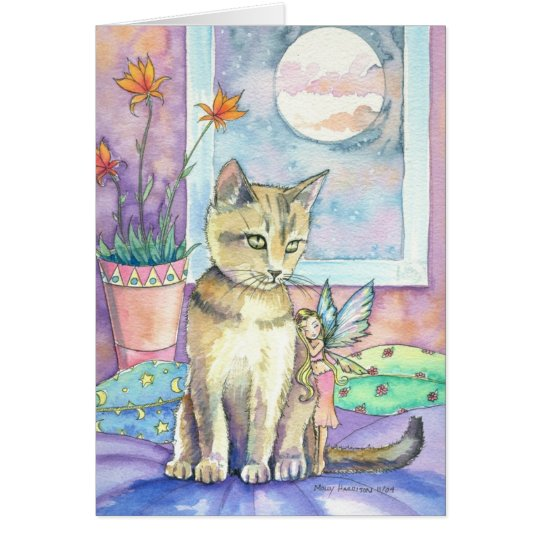 Abyssinian and Fairy Greeting Card
