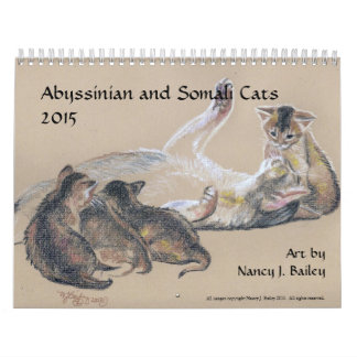 Abyssinian and Somali Cats 2015 Calendar
