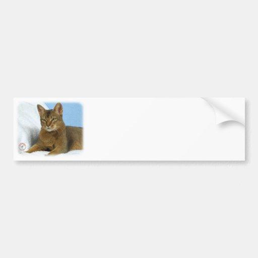 Abyssinian Cat 9Y009D-020 Bumper Sticker