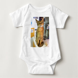 Abyssinian Cat (Abby) Baby Bodysuit