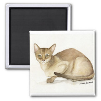 """""""Abyssinian Cat"""" Art Reproduction Magnet"""