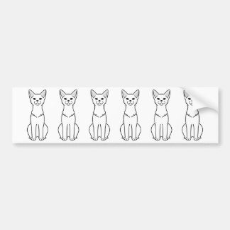 Abyssinian Cat Cartoon Bumper Sticker