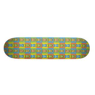 Abyssinian Cat Cartoon Pop-Art Skate Boards