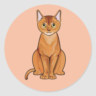 Abyssinian Cat Classic Round Sticker