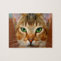 Abyssinian Cat. Jigsaw Puzzle