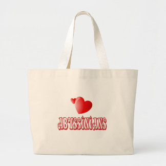 Abyssinian Cat Love Canvas Bag