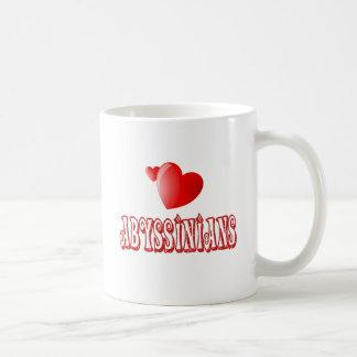 Abyssinian Cat Love Classic White Coffee Mug