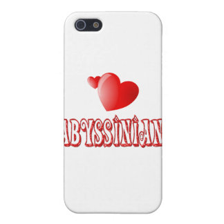 Abyssinian Cat Love Covers For iPhone 5