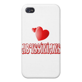 Abyssinian Cat Love iPhone 4 Covers
