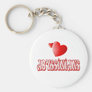Abyssinian Cat Love Keychains