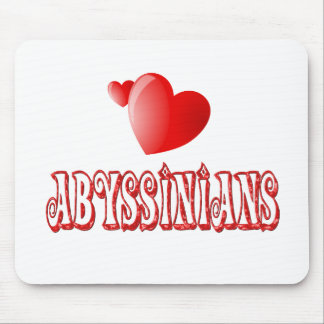 Abyssinian Cat Love Mouse Pad