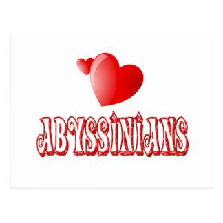Abyssinian Cat Love Postcard
