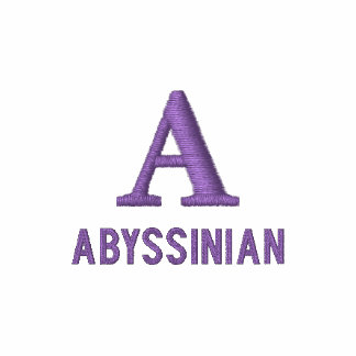 Abyssinian Cat Monogram Design