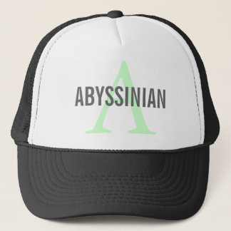 Abyssinian Cat Monogram Design Trucker Hat