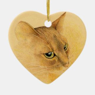 Abyssinian Cat Ornament