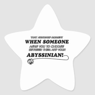 Abyssinian designs for Cat lovers Star Sticker