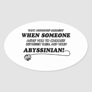 Abyssinian designs for Cat lovers Sticker