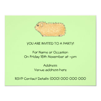Abyssinian Guinea Pig. On Mint Green. Card