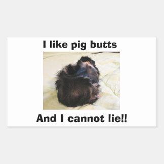 Abyssinian I love piggy butts! Sticker