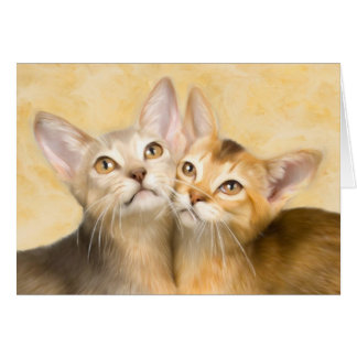 Abyssinian Kittens Card