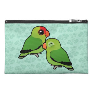 Abyssinian Lovebird Adorable Pair Travel Accessory Bags