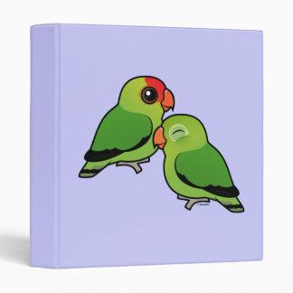 Abyssinian Lovebird Adorable Pair Binder