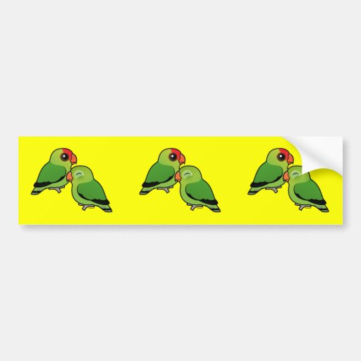 Abyssinian Lovebird Adorable Pair Bumper Stickers