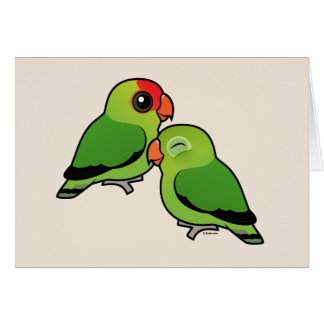 Abyssinian Lovebird Adorable Pair Card