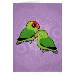 Abyssinian Lovebird Adorable Pair Greeting Cards