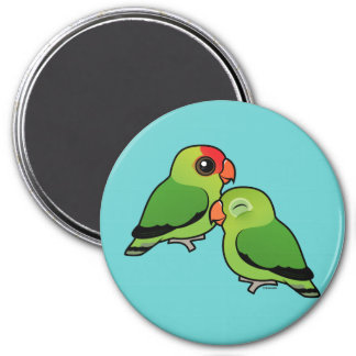 Abyssinian Lovebird Adorable Pair Magnet