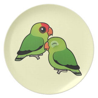 Abyssinian Lovebird Adorable Pair Melamine Plate