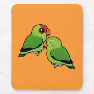 Abyssinian Lovebird Adorable Pair Mouse Pad