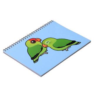 Abyssinian Lovebird Adorable Pair Spiral Notebook