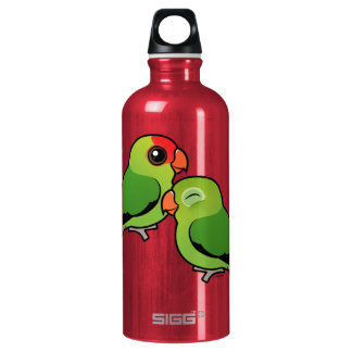 Abyssinian Lovebird Adorable Pair Water Bottle