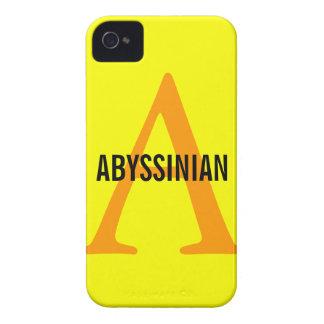 Abyssinian Monogram Design iPhone 4 Cases