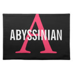 Abyssinian Monogram Placemat