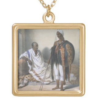 Abyssinian Priest and Warrior, illustration from ' Gold Plated Necklace