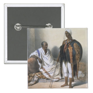Abyssinian Priest and Warrior, illustration from ' Pinback Button