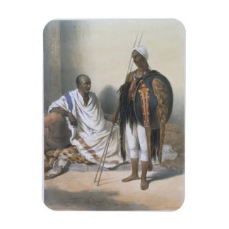 Abyssinian Priest and Warrior, illustration from ' Rectangular Magnet