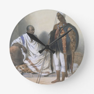 Abyssinian Priest and Warrior, illustration from ' Round Clock