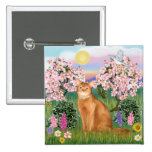 Abyssinian (red 18) - Blossoms Buttons