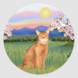 Abyssinian (red 18) - Blossoms Stickers