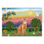 Abyssinian (red 18) - Bright Country Greeting Card