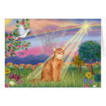 Abyssinian (red 18) - Cloud Angel Greeting Card